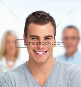 Handsome Young Man Smiling Confidently