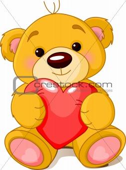 Teddy Bear Cartoon Heart