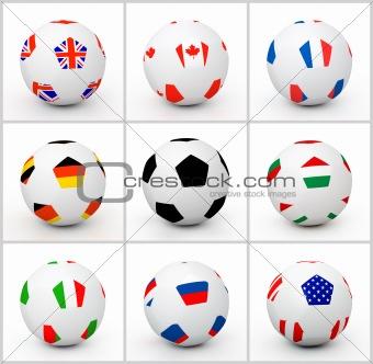 Set soccer ball
