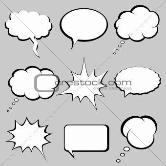 Image of Speech and thought bubbles from Crestock Stock Photos