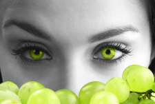 The eyes and grape