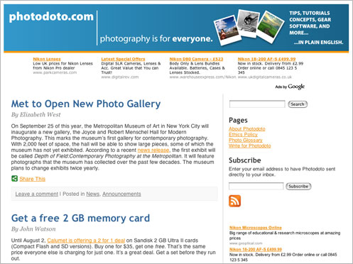 Photodoto Website Screenshot