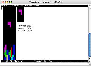 Terminal Tetris