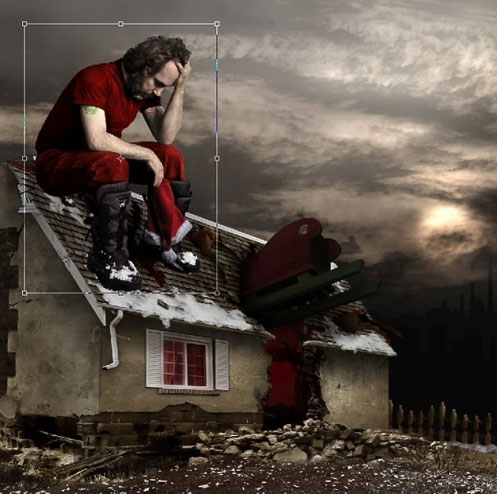Photoshop Tutorial Apocalyptic Christmas Card Crestock