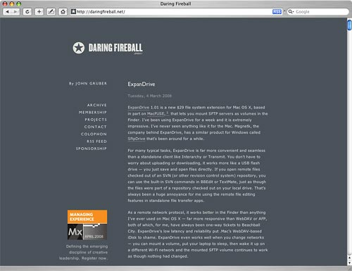 Daringfireball Screenshot