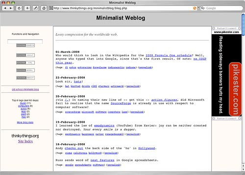 Minimalistblog Screenshot