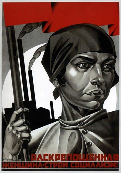 Liberated woman – build up socialism!