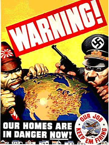 US War Propaganda Poster. 30. While the look of Hitler in