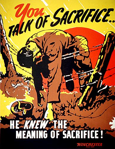 US War Propaganda Poster. 33. This well known poster carries the look of a