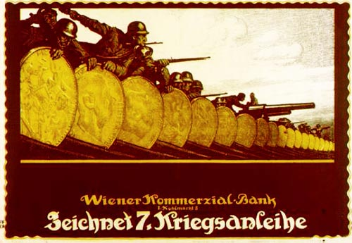 German retro propaganda poster