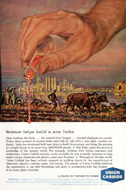 Union Carbide gift to India