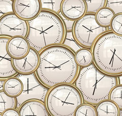 Clocks and time background