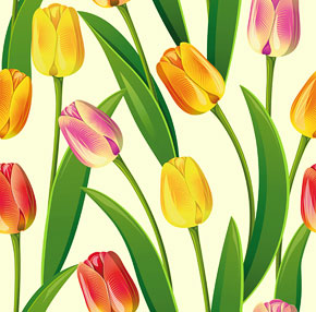 Seamless tulips