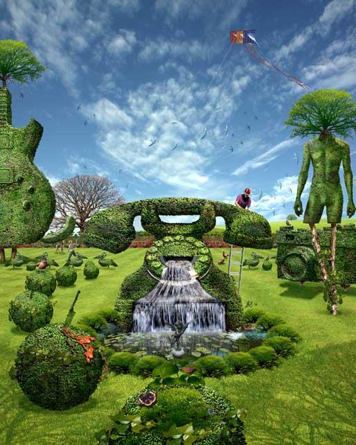 Doug's topiary garden