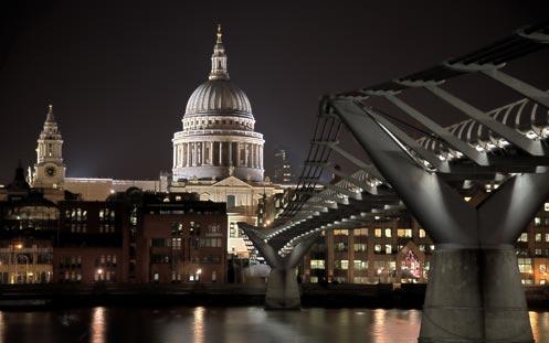 Millennium Bridge - St Paul's HDR