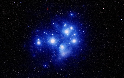Free Wallpaper Of Image Pleiades Star Cluster