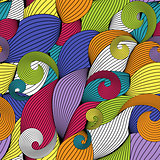 Abstract Wave Seamless Pattern Background. Vector Illustration